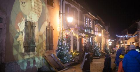 Illuminations et projection Noël